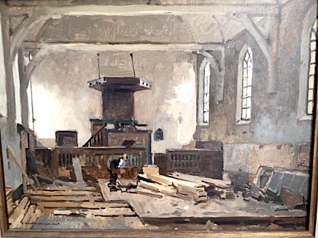 Bol an 184: Schilderij 'restauratie Johanneskerk' – Cornelis Vreedenburgh